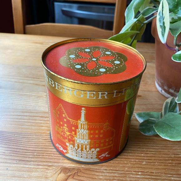 Vintage German Lebkuchen Metal Container
